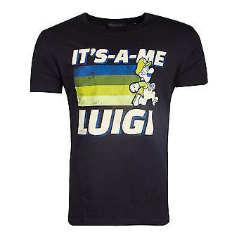 Nintendo Super Mario Bros. It's-A-Me Luigi T-Shirt Male Large Black