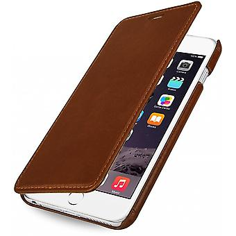 Case For iPhone 6 Plus Book Type Without True Cognac Leather Clip