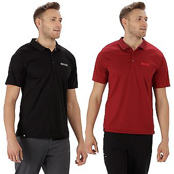 Regatta Mens Maverick IV Ribbed Collar Wicking Polo Shirt