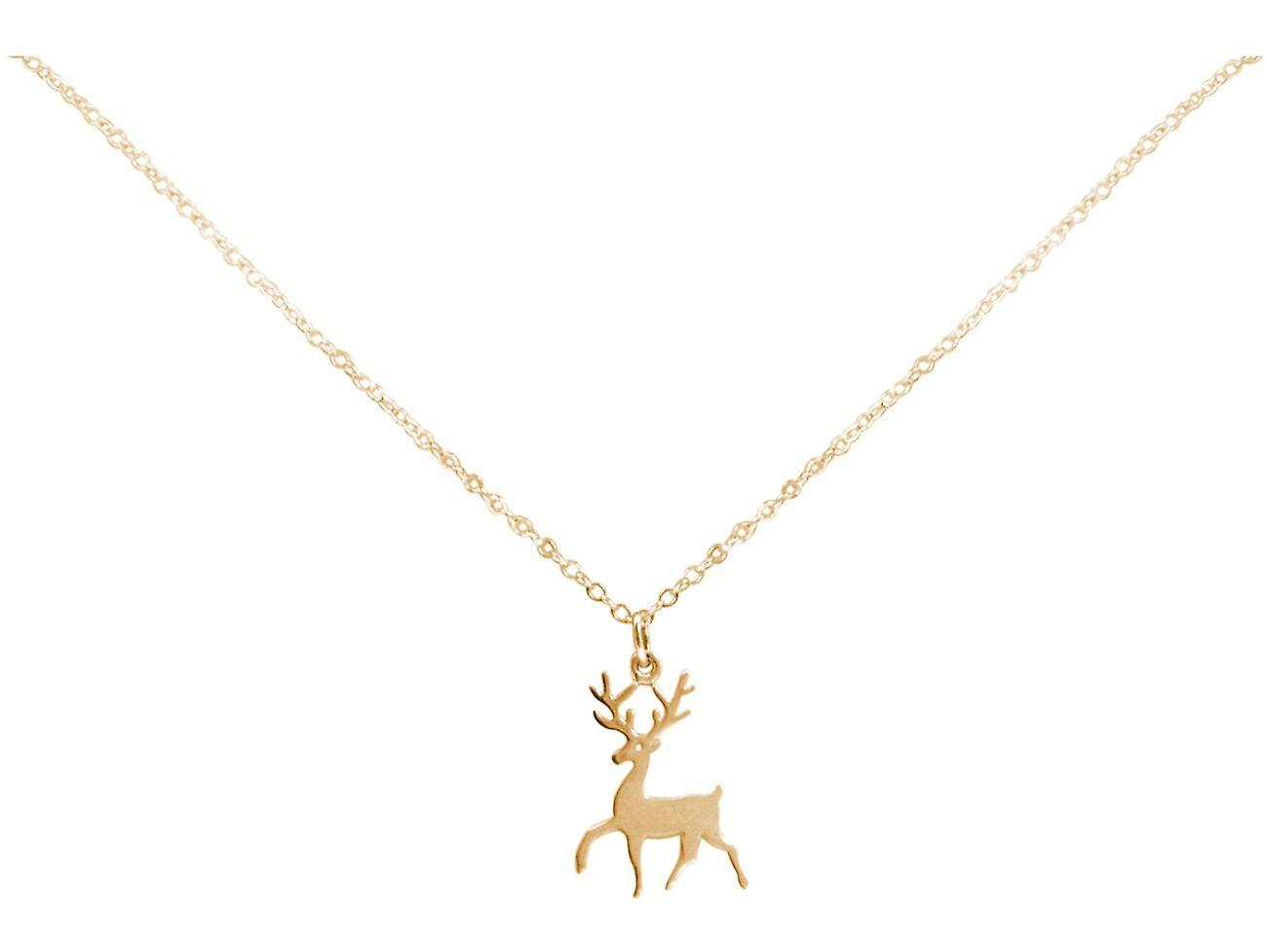 Gemshine Deer Elk sakara kaula koru riipus 925 hopea, kullattu, ruusu Bambi