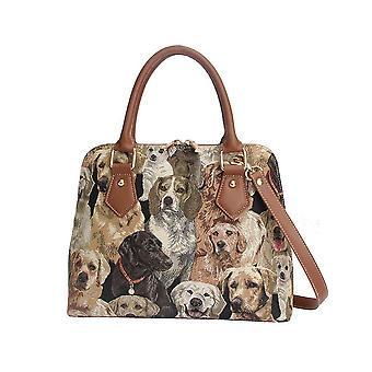Labrador Top-Handle bolsa de ombro por negativosão tapeçaria/CONV-Lab
