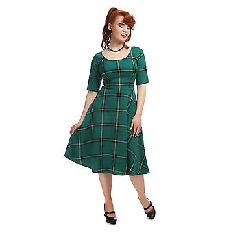 Collectif Vintage Women's Amber Evergreen Print Swing Dress