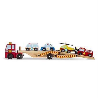 Childrens Melissa & Doug Emergency Vehicle Carrier Leksak Ålder 3 +