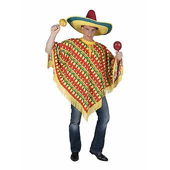 Mexikanischer Poncho Herrenkostüm Bandito Herren Kostüm Einheitsgröße