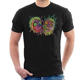 Rick and Morty Psychedelic Face Men's T-Shirt