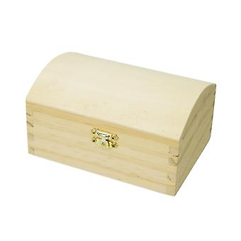 13.5cm Wooden Chest with Clasp to Decorate   Pirate Treasure Chests