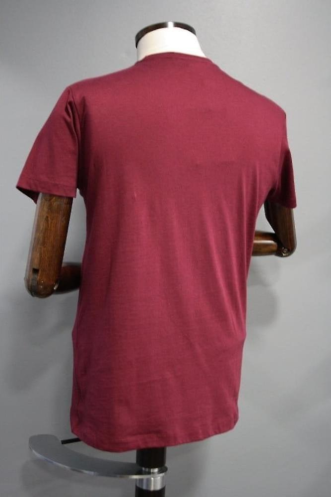 Merc London Keyport Wine Cotton T-Shirt