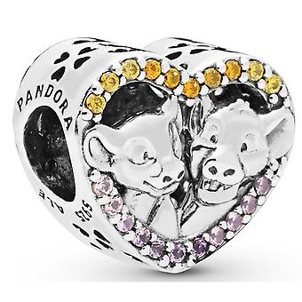 Charm Pandora 798044NPRMX - Disney C?your Glittering Simba and Nala in Silver 925/1000 with Crystals and Sapphires synth se