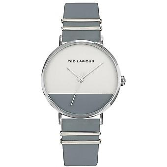 Toont Ted Lapidus A0739ABMB - leder Silver Dial stalen case grijs two-tone vrouw
