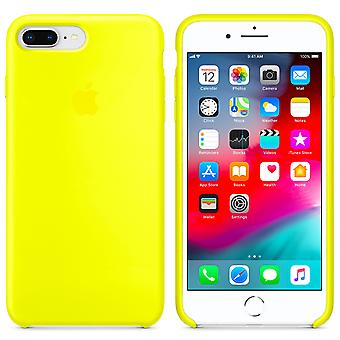 Original packaging Apple silicone microfiber cover case for iPhone 8 / 7 - flash yellow