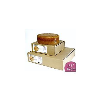 Makea menestys vanilja Genoese sieni kakku-pyöreä-12