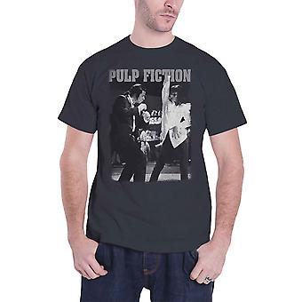 Pulp Fiction T Shirt Dancing Movie Logo new Official Mens Charcoal