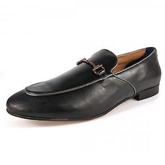 Hudson Carmarthen Leather Loafers Black