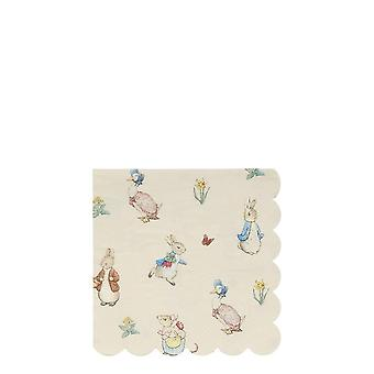Meri Meri Peter Rabbit et amis Small Paper Party Cocktail Napkins x 20
