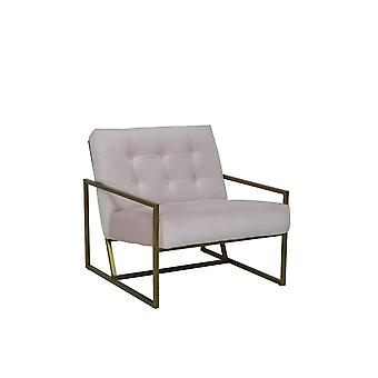 Light & Living Chair 71x81x70cm Geneve Velvet Light Pink And Gold