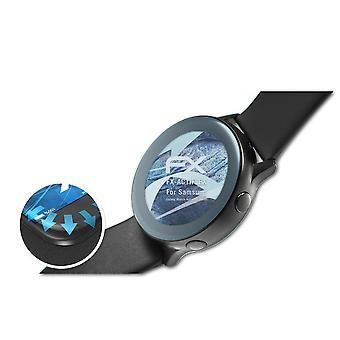 atFoliX 3x Écran protecteur compatible avec Samsung Galaxy Watch Active 2 40mm clair&flexible