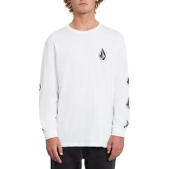 Volcom Deadly Stone Long Sleeve T-Shirt in White