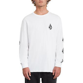 Volcom Deadly Stone camiseta de manga larga en blanco