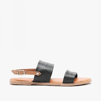 Hush Puppies Maria Ladies Leather Sandals Black