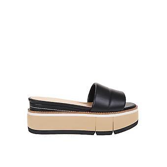 Paloma Barceló Fannie Women's Black Leather Sandals