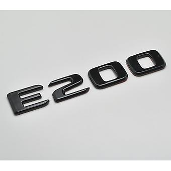 Gloss Black E200 Flat Mercedes Benz Car Model Rear Boot Number Letter Sticker Decal Badge Emblem For E Class W210 W211 W212 C207/A207 W213 AMG