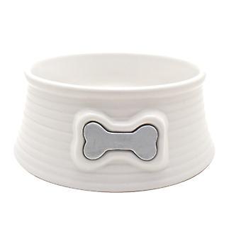 Hagen Mangeoire en céramique blanche osseuse (Chiens , Gamelles)