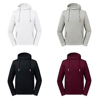 Russell Adults Unisex Pure Organic High Collar Hooded Sweatshirt
