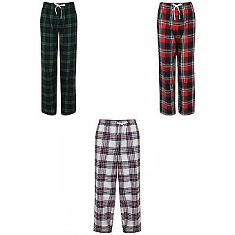 Skinnifit Womens/Ladies Tartan Lounge Pants