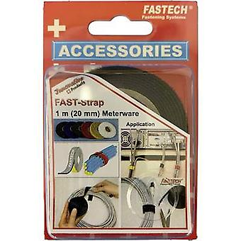 FASTECH® 910-330C Hook-and-loop tape for bundling Hook and loop pad (L x W) 1000 mm x 20 mm Black 1 m