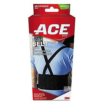 Ace brand work belt with removable suspenders, waists up to 48 inch, 1 ea