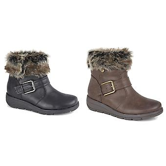 Cipirata Womens/Ladies Faux Fur Coralla Ankle Boots