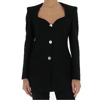 Versace A86252a212457a1008 Women's Black Cotton Blazer