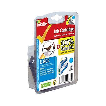 Inkrite NG imprimante encre pour Epson R265 R360 RX560 - T080240 Cyan (Robin)
