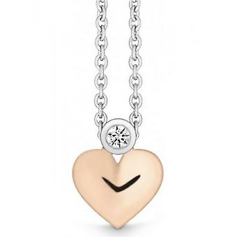 QUINN - Halskette - Damen - Weiß-/Roségold 585 - Top W. (G)si. - 3270859