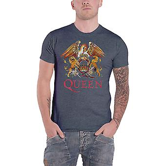 Queen T Shirt Classic Crest Band Logo Freddie Mercury Official Mens New