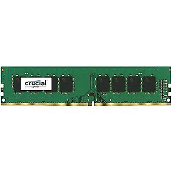 Crucial CT4G4WFS824A 4 GB memory, DDR4, 2400 MT/s, PC4-19200, SR x8, ECC, without Buffer, DIMM, 288-Pin