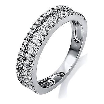 Diamantring Ring - 18K 750/- Weissgold - 0.84 ct. - 1L248W855 - Ringweite: 55