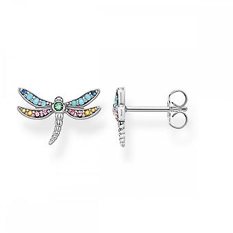 Thomas Sabo Sterling Silver Thomas Sabo Paradise Colours Silver Dragonfly Ear Studs H2051-314-7