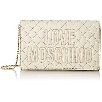 Kjærlighet Moschino Pu kvinners skulderveske (Elfenben/platina) 13x23x6 cm (B x H x L)