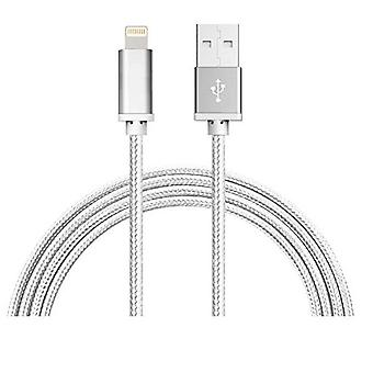 USB-LIGHTNING Cable with Nylon Fabric 1m (White)