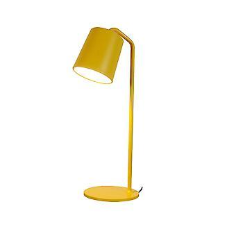 """5 """"x 5"""" x 23 """"צהוב אפור פחמן מנורה שולחן השולחן"""