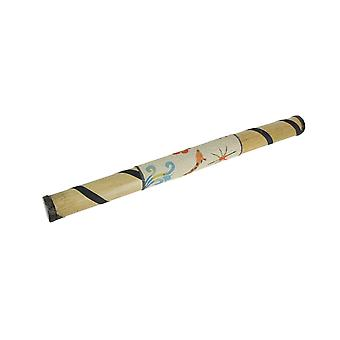 24 Pouces Bamboo Rain Stick Percussion Instrument Colorful Sand Painted Giraffe Design