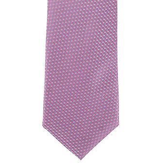 Michelsons of London Illusion Geometric Silk Tie - Pink