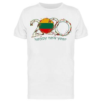 Happy New Year From Lithuania Tee Men's -Image by Shutterstock