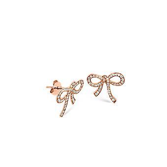 Boucles d'oreilles Diamonds Bow 18K Gold