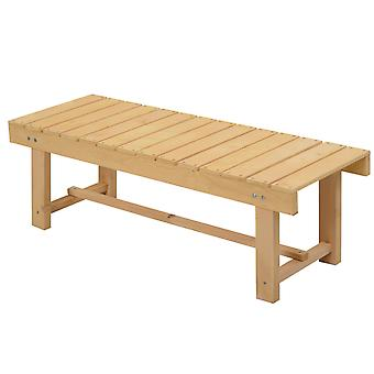 Outsunny 2-seater Outdoor Indoor Garden Wooden Bench Patio Loveseat Fir 110L x 38W x 35H cm