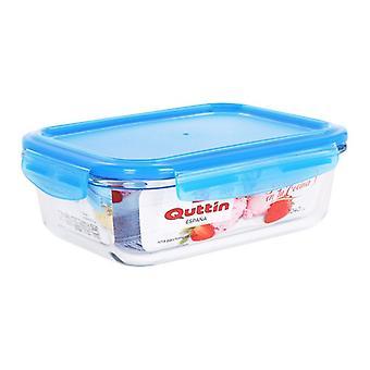 Hermetic Lunch Box Quttin Rectangular Crystal Blue/1040 cc - 20,7 x 16 x 7 cm