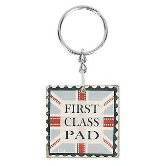 First Class Pad Wooden Keyring