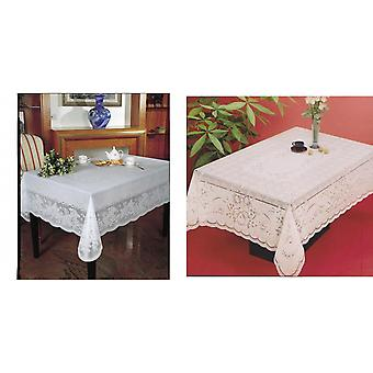 Embossed Vinyl Waterproof Rectangle Shaped Tablecloth