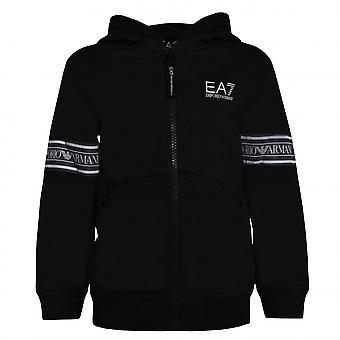EA7 Boys EA7 Boy's Black Zip Up Sweat Top